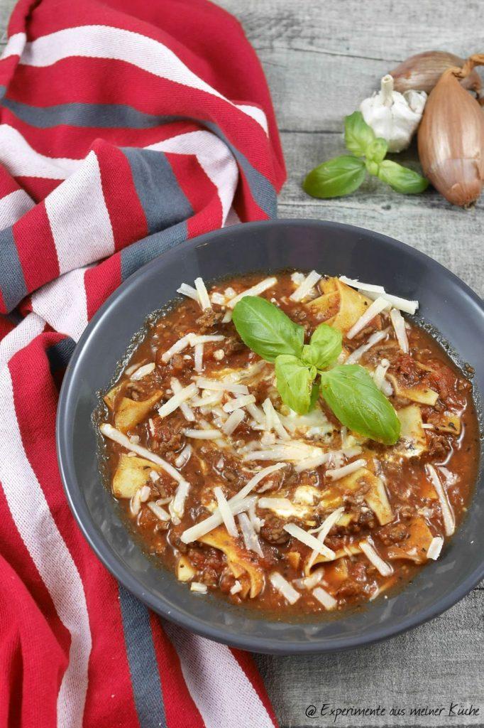 Experimente aus meiner Küche: Lasagne-Suppe
