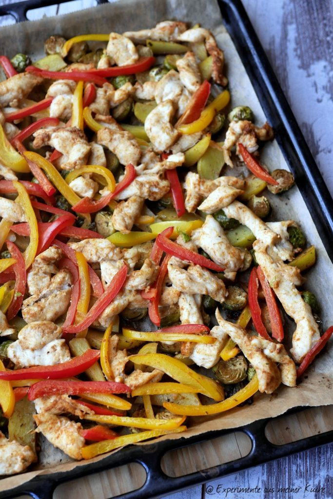 Experimente aus meiner Küche: Ofengemüse mit Hähnchen