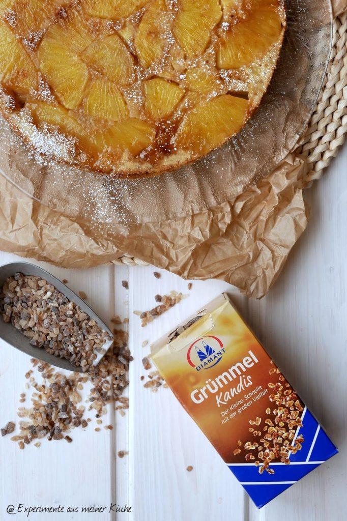 Experimente aus meiner Küche: Gestürzter Ananaskuchen mit Grümmel Kandis