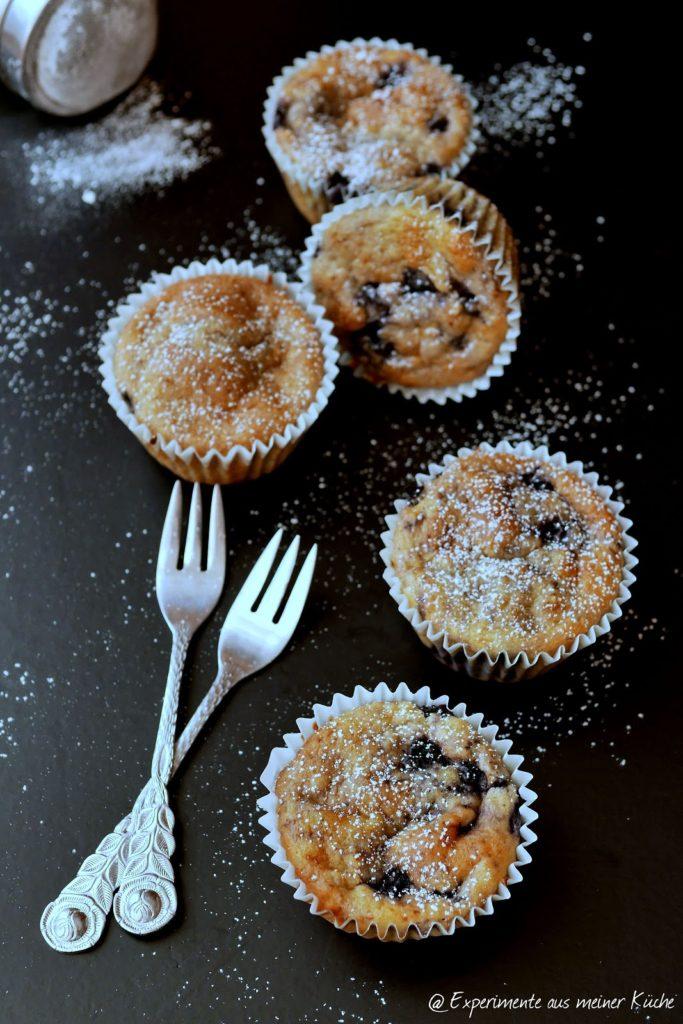 Experimente aus meiner Küche: Bananen-Blaubeer-Muffins