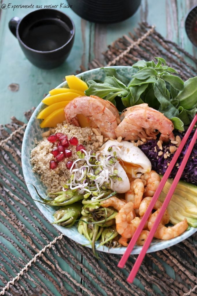 Experimente aus meiner Küche: Asiatische Garnelen-Bowl