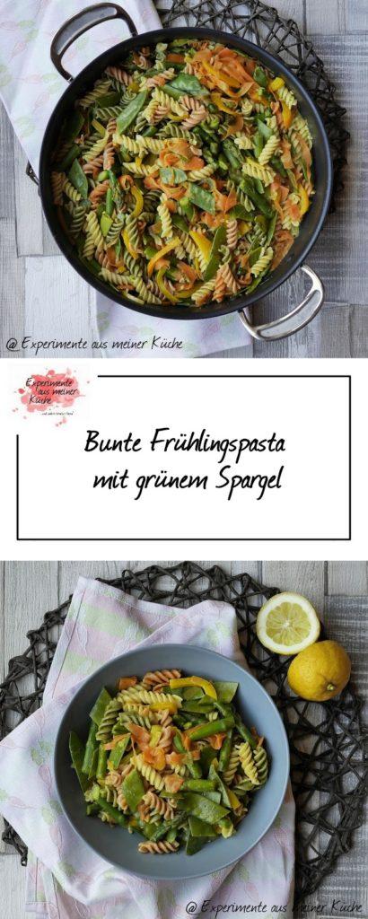 Experimente aus meiner Küche: Bunte Frühlingspasta mit Spargel