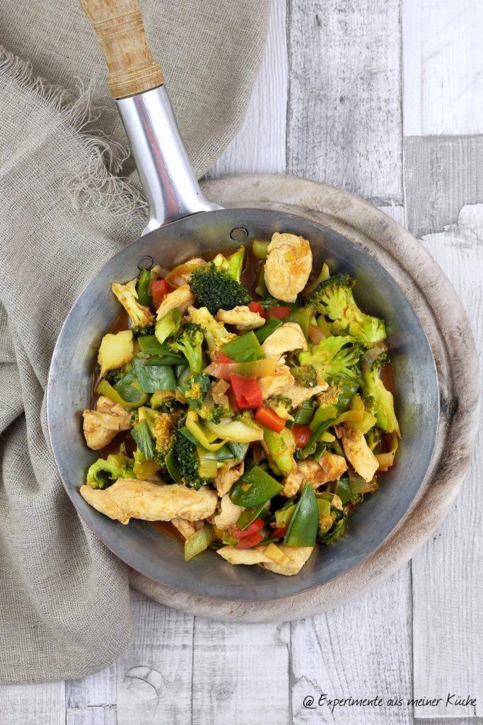 Gemüsepfanne mit Bulgur und Hähnchen   Essen   Kochen   Rezept