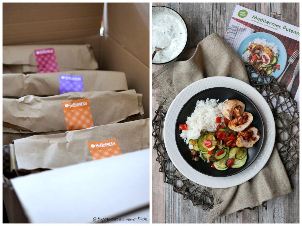 Putenroulade mit Ofengemüse und Petersiliendip aus der HelloFresh Kochbox