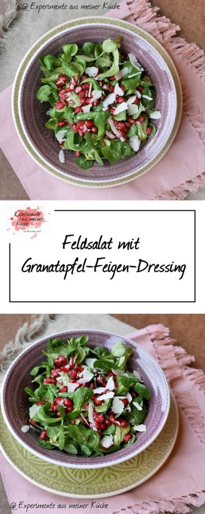 Feldsalat mit Granatapfel-Feigen-Dressing | Rezept | Salat