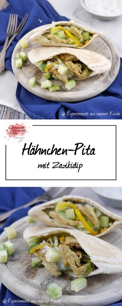 Hähnchen-Pita mit Zazikidip | Rezept | Essen | Kochen