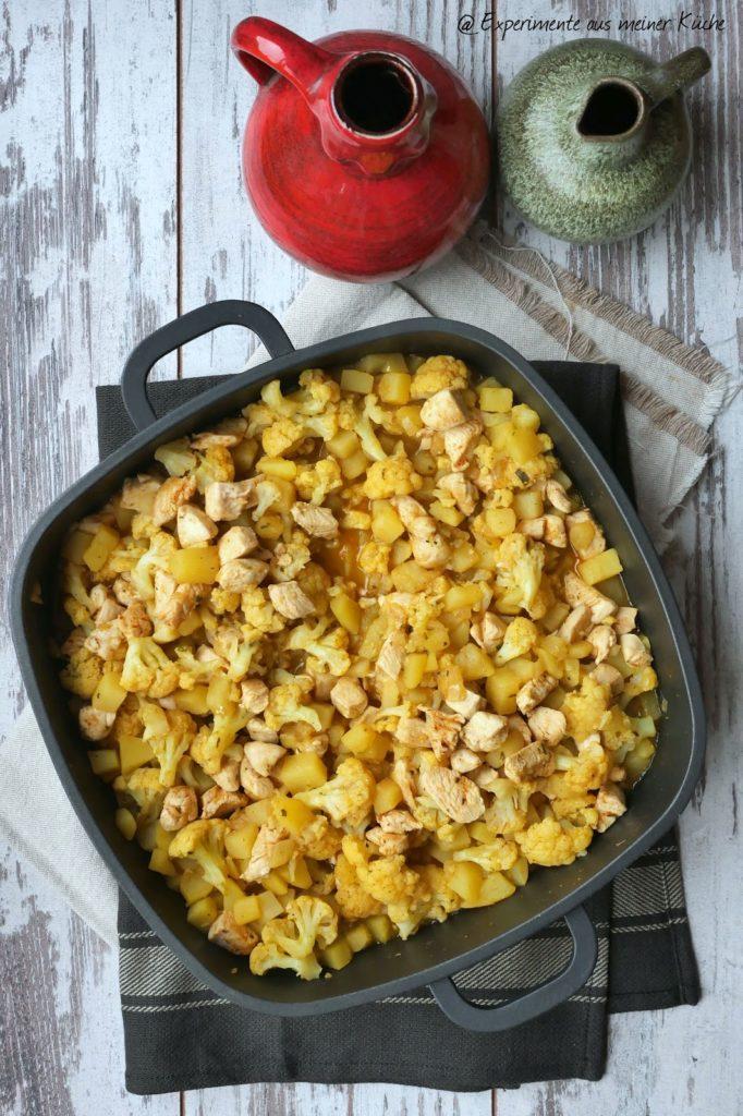 Blumenkohl-Curry mit Kartoffeln und Hähnchen | Essen | Kochen | Rezept
