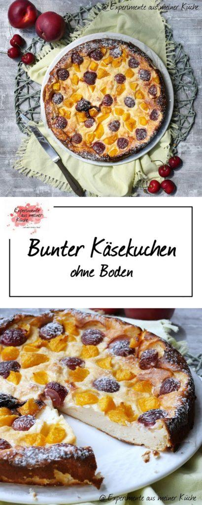 Bunter Käsekuchen ohne Boden | Backen | Obstkuchen