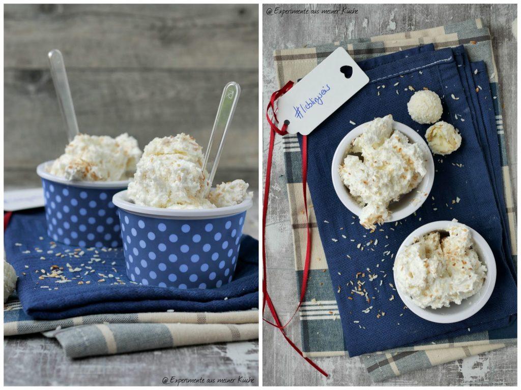 Raffaello-Joghurt-Eis ohne Eismaschine | Rezept