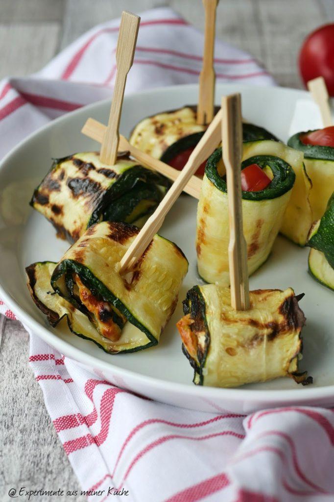 Gegrillte Zucchiniröllchen | Grillen | Rezept