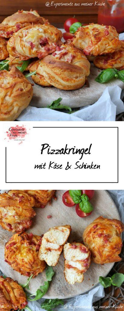 Pizzakringel mit Schinken | Rezept | Essen| Fingerfood