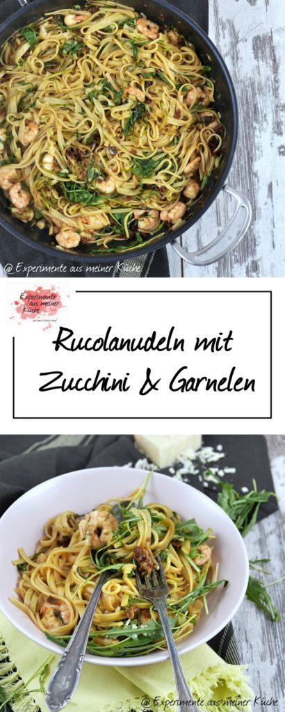 Rucolanudeln mit Garnelen | Rezept | Kochen