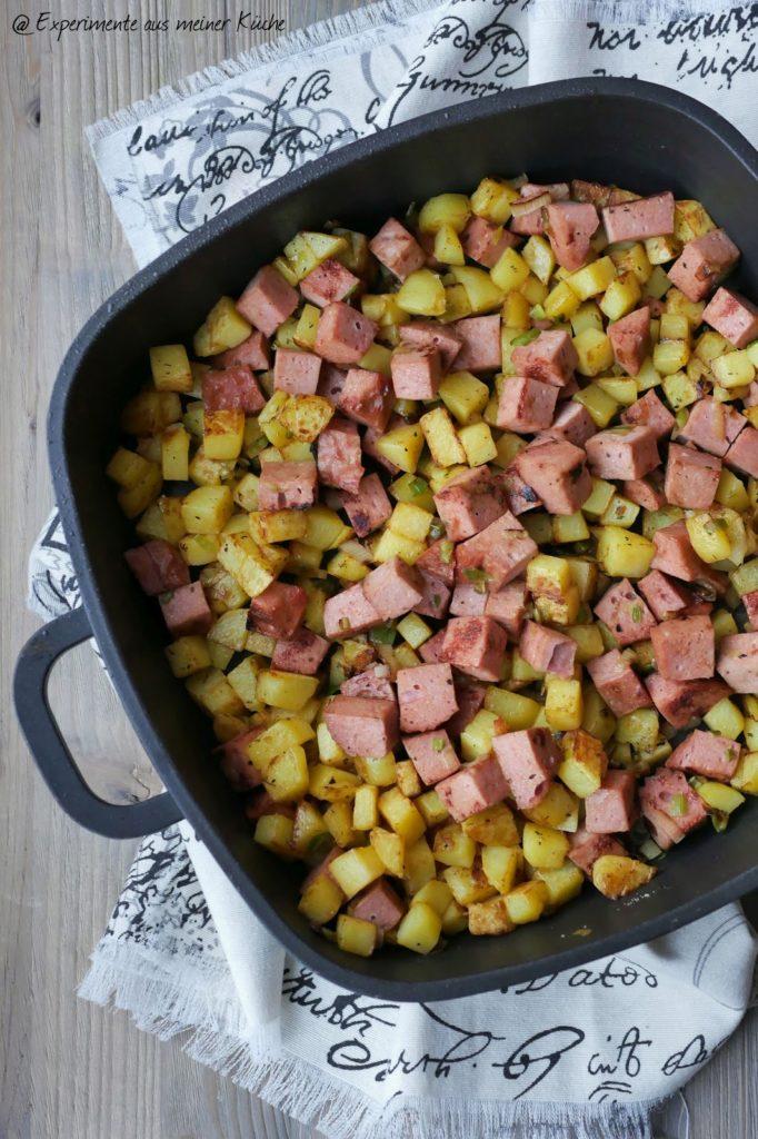 Kartoffel-Fleischkäse-Pfanne | Rezept | Kochen