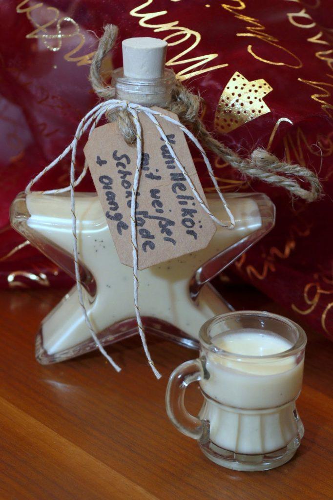 Meine liebsten Weihnachtsrezepte | Vanillelikör mit weißer Schokolade