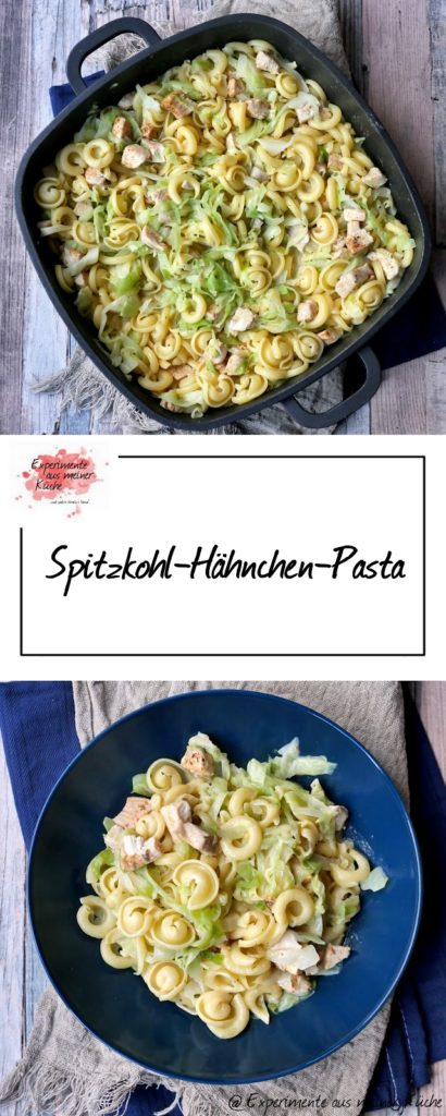 Spitzkohl-Hähnchen-Pasta | Rezept | Kochen