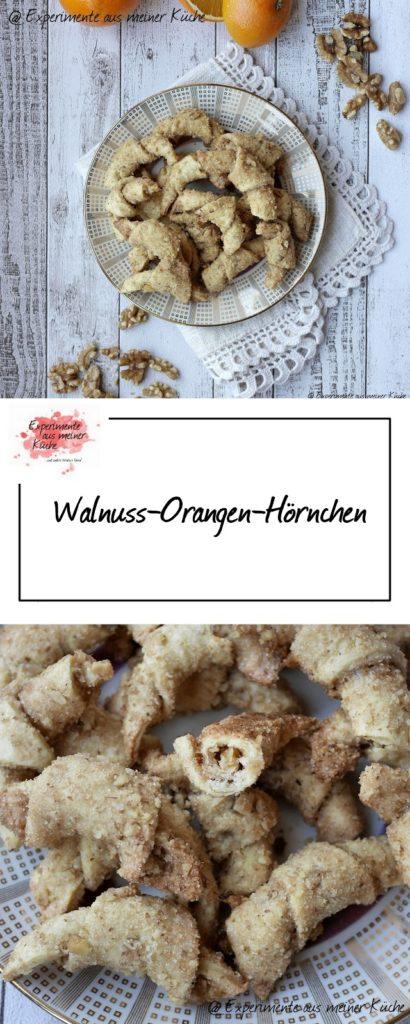 Walnuss-Orangen-Hörnchen | Rezept | Weihnachtsbäckerei