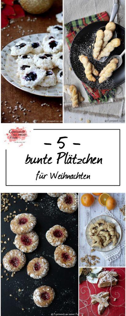 Fünf bunte Plätzchen ohne Ausstechen | Rezept | Weihnachtsbäckerei
