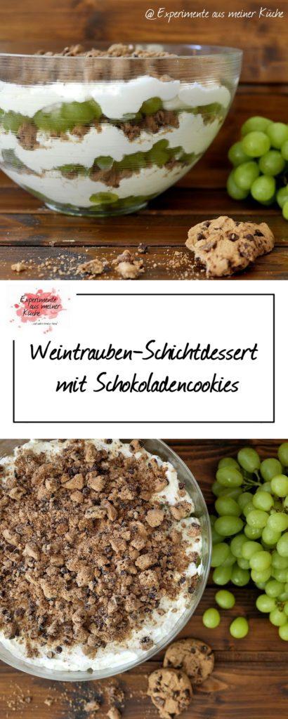 Weintrauben-Schichtdessert mit Schokoladencookies   Rezept   Nachtisch