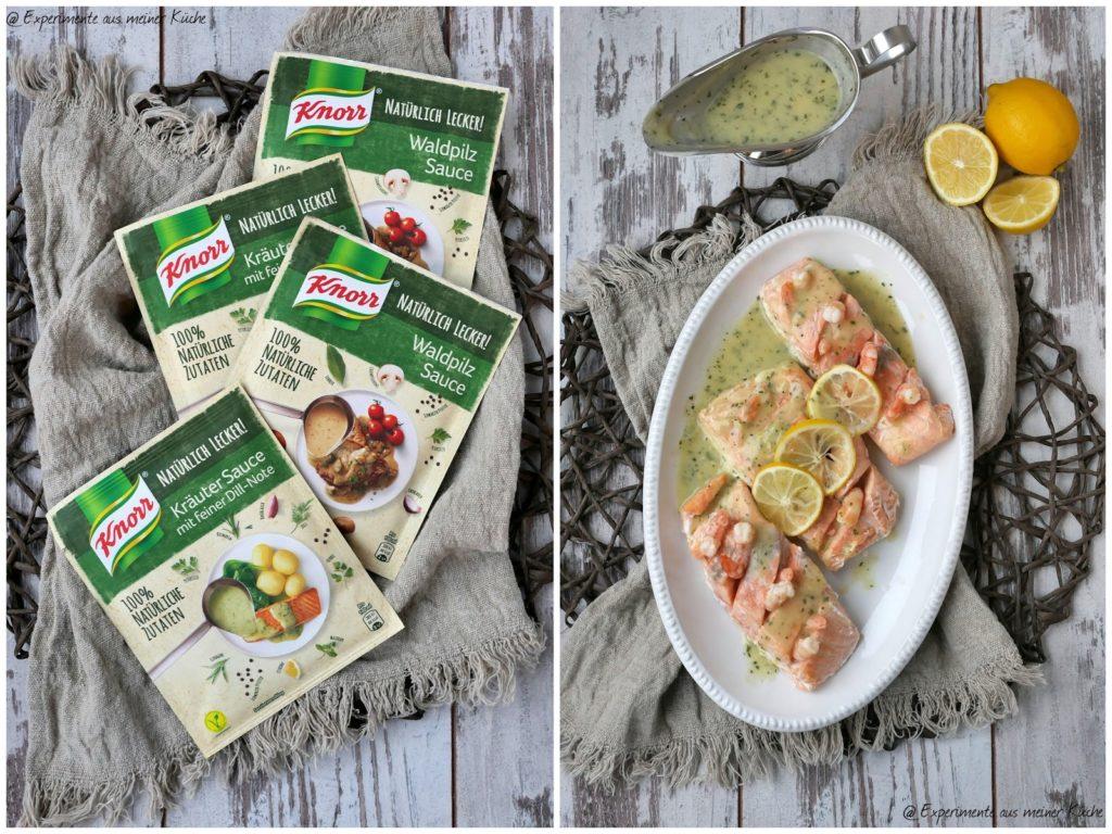 Backofenlachs mit Garnelen-Kräuter-Sauce | Essen | Kochen | Rezept