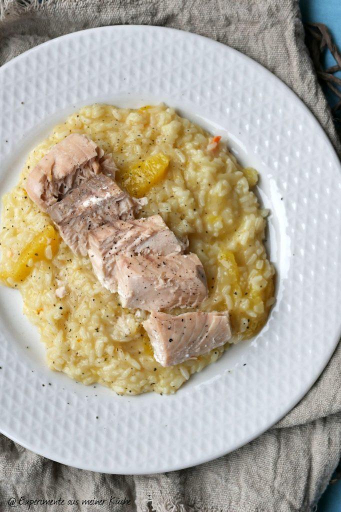 Orangenrisotto mit Lachs | Rezept | Kochen | Essen | Weight Watchers