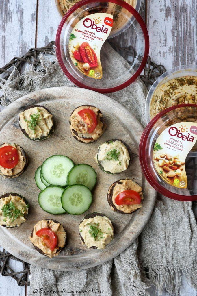 Hummus-Pumpernickel-Taler | Rezept | Essen