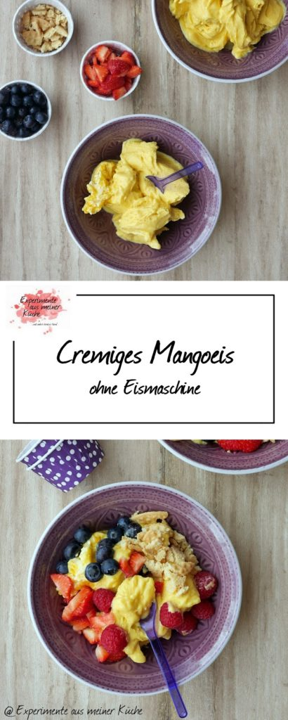 Cremiges Mangoeis (ohne Eismaschine) | Rezept | Dessert