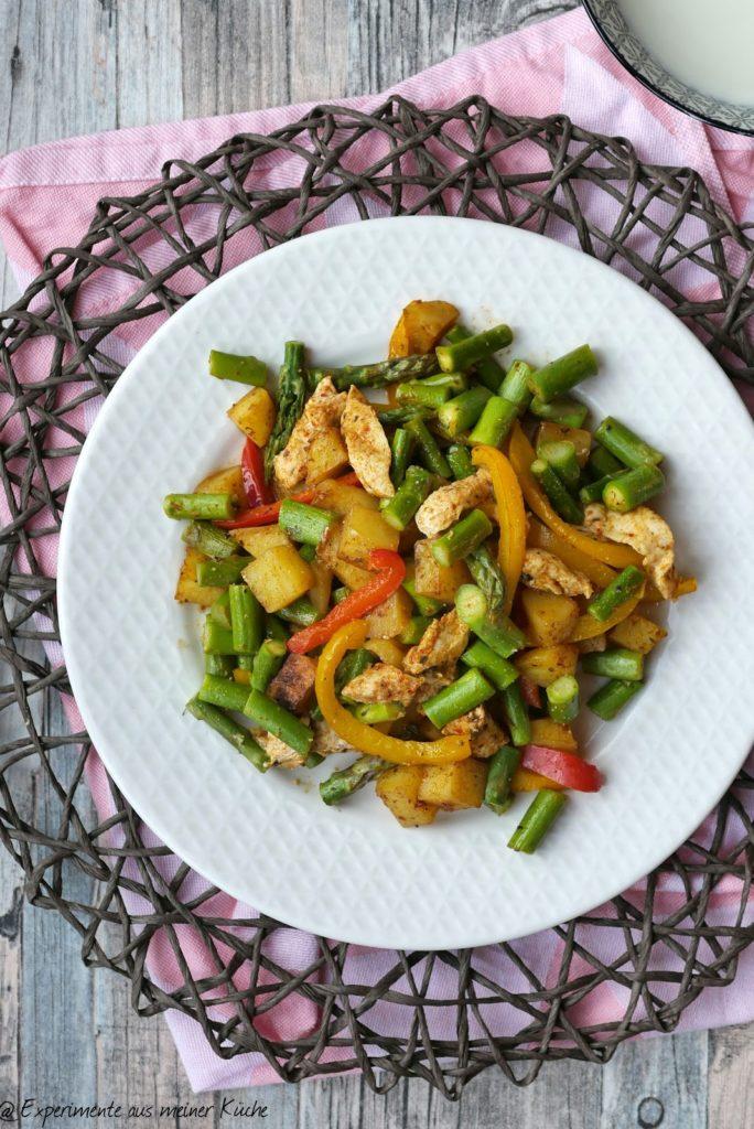 Frühlingsgemüse mit Hähnchen aus dem Ofen   Essen   Kochen   Rezept   Spargel   Weight Watchers
