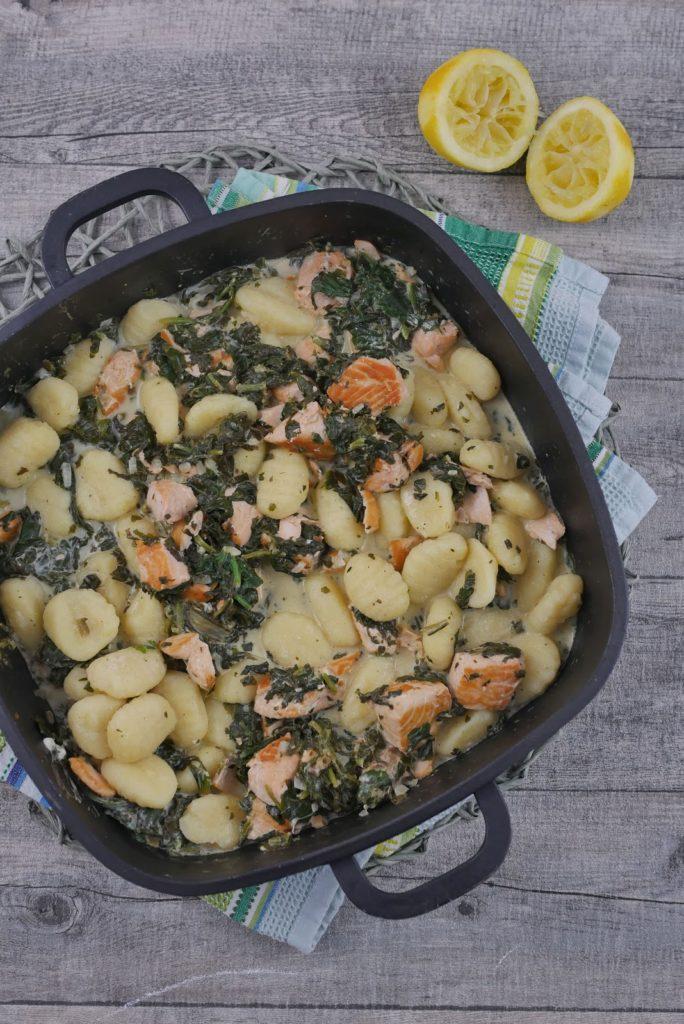 Gnocchi-Lachs-Pfanne mit Spinat | Rezept | Kochen | Essen | Weight Watchers