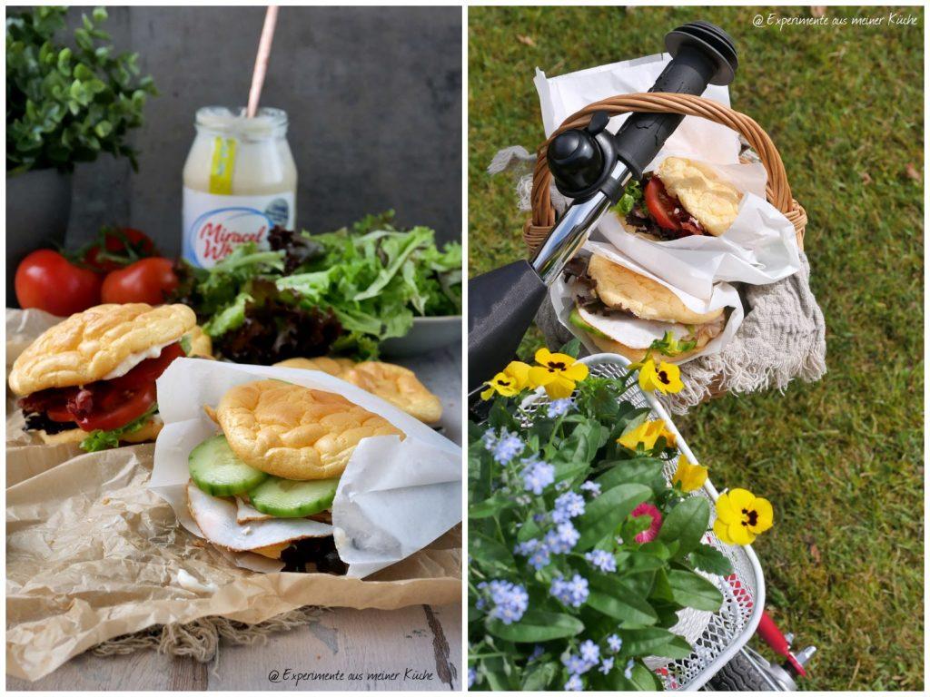 Belegte Oopsies | Rezept | Essen | Picknick | Low Carb | Weight Watchers