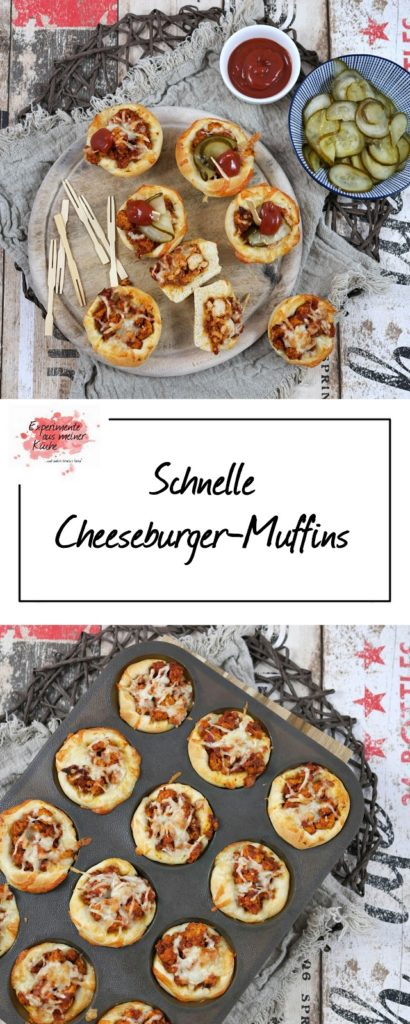 Schnelle Cheeseburger-Muffins | Rezept | Kochen | Burger | Essen