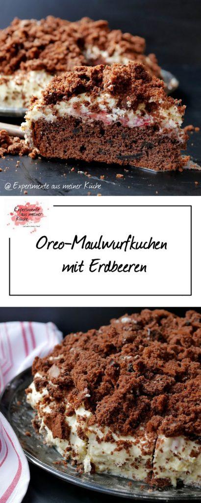 Oreo-Maulwurfkuchen mit Erdbeeren | Backen | Rezept