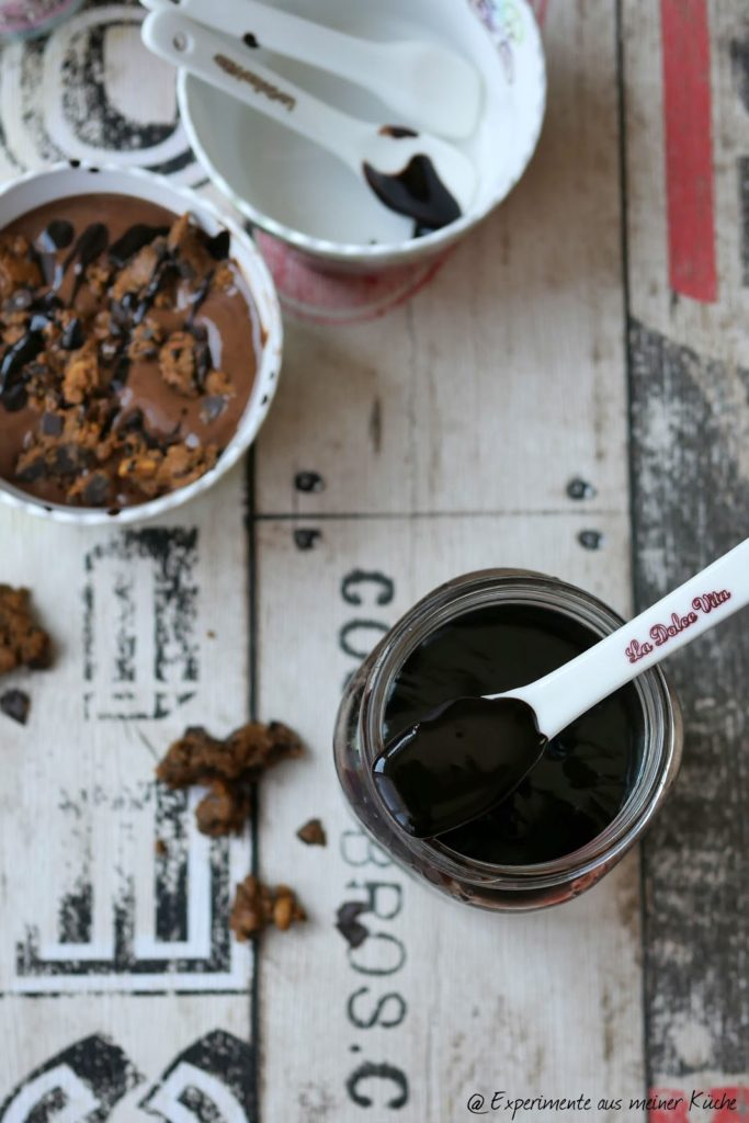 Cookie Dough Nicecream & zuckerfreier Schokoladensirup   Rezept   Eis   Dessert   Weight Watchers