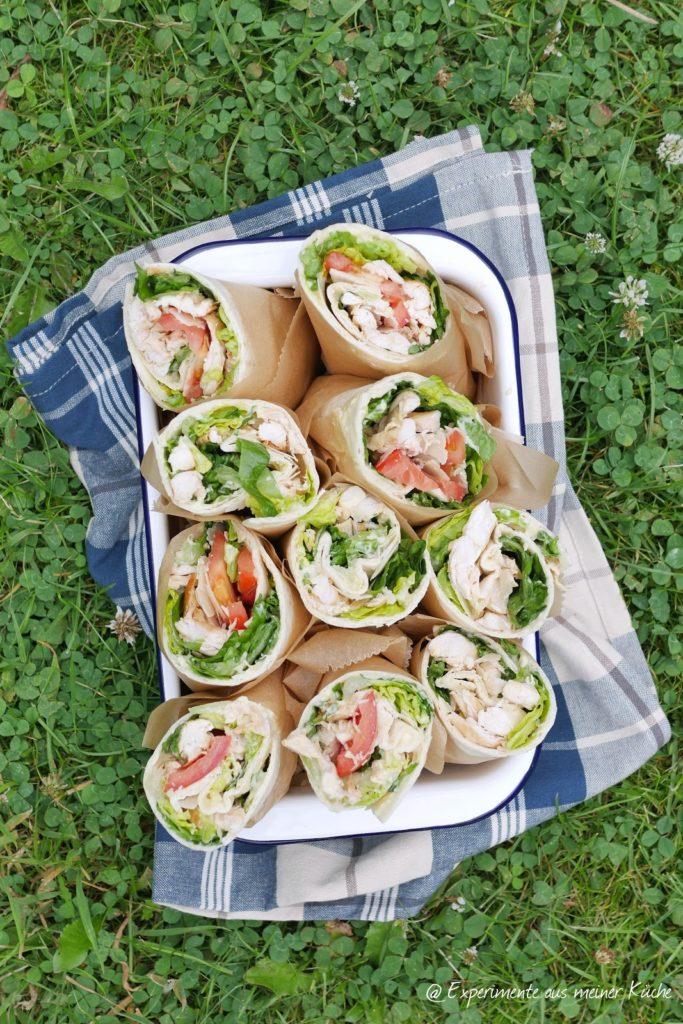 Caesar Wraps | Rezept | Kochen | Picknick | Fingerfood | Weight Watchers
