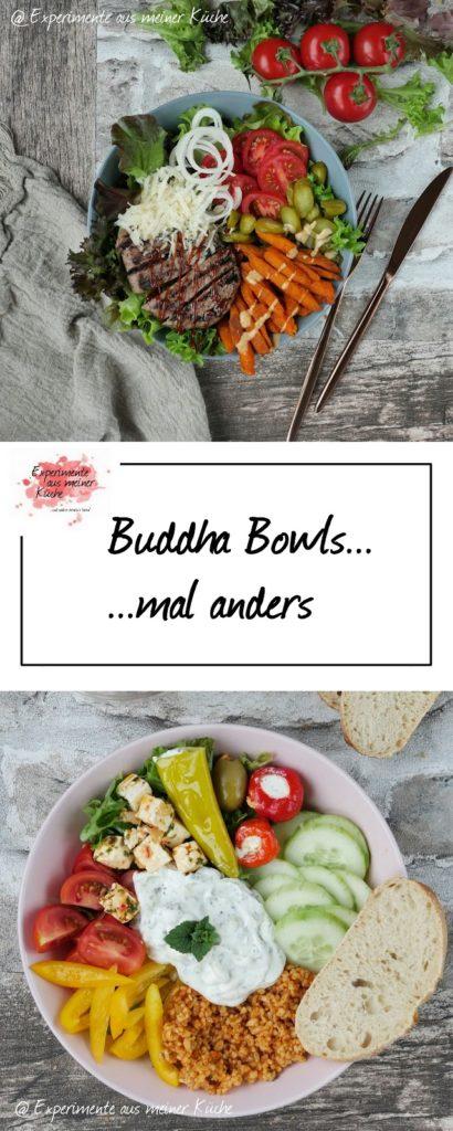 Buddha Bowls mal anders | Rezept | Kochen | Essen | Burger Bowl | Greek Style Bowl