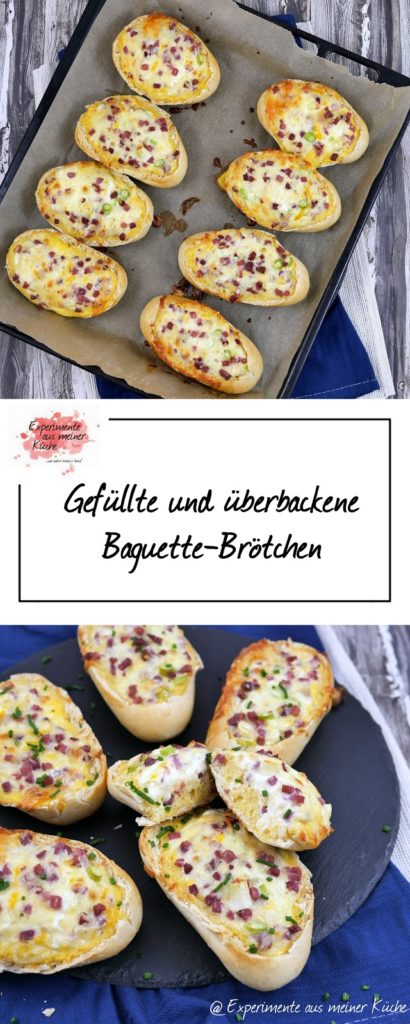 Gefüllte Baguette-Brötchen | Rezept | Fingerfood | Essen | Partyfood | Weight Watchers