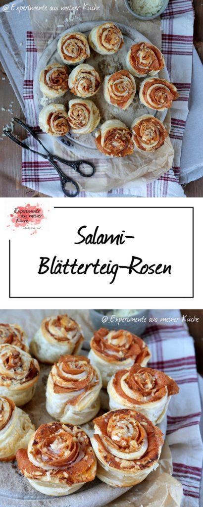 Salami-Blätterteig-Rosen | Rezept | Kochen | Snack | Fingerfood | Essen