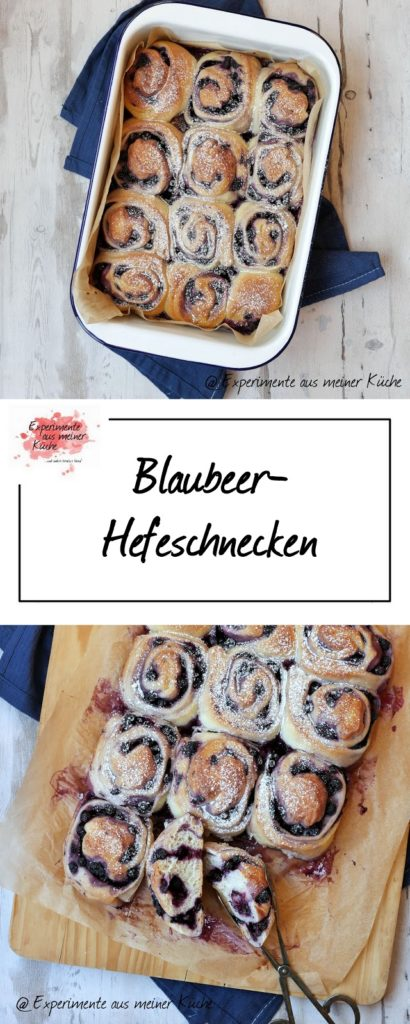 Blaubeer-Hefeschnecken | Rezept | Backen | Kuchen