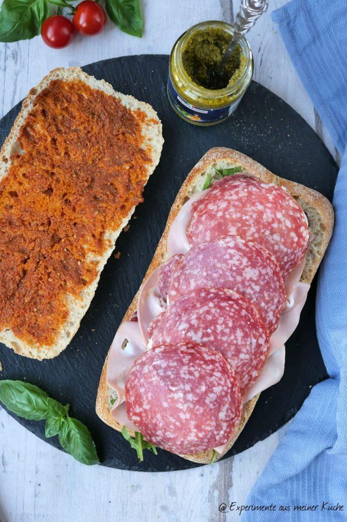 Italienisches Sandwich   Rezept   Essen   Fingerfood   kalte Küche