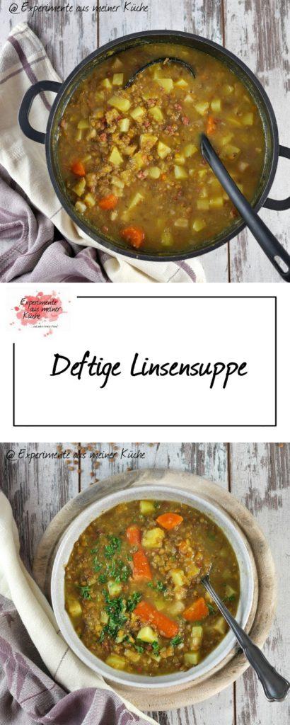 Deftige Linsensuppe | Kochen |Essen | Rezept | Weight Watchers | Eintopf