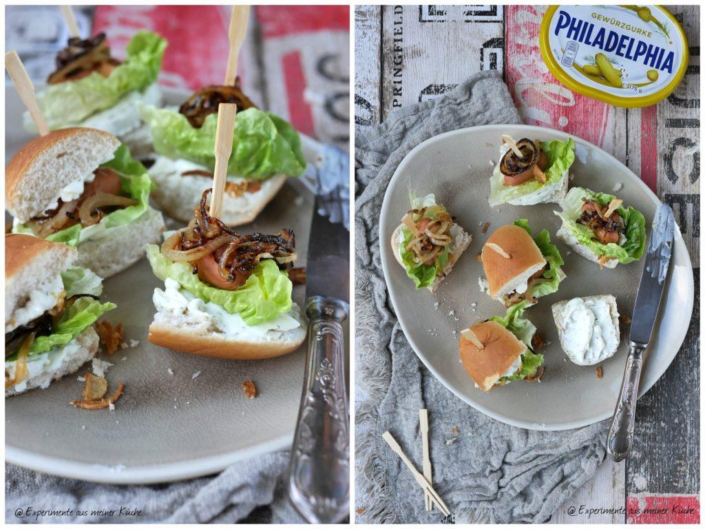 Hot Dog Häppchen | Essen | Fingerfood | Partyfood