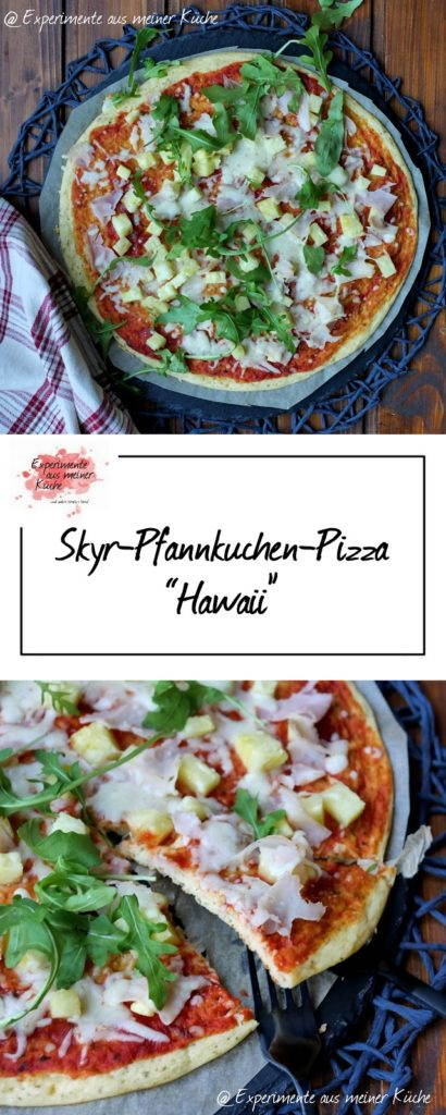 "Skyr-Pfannkuchen-Pizza ""Hawaii"" 