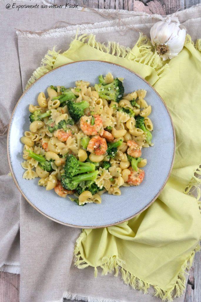 Nudeln mit Garnelen-Brokkoli-Soße | Rezept | Kochen | Pasta | Essen | Weight Watchers