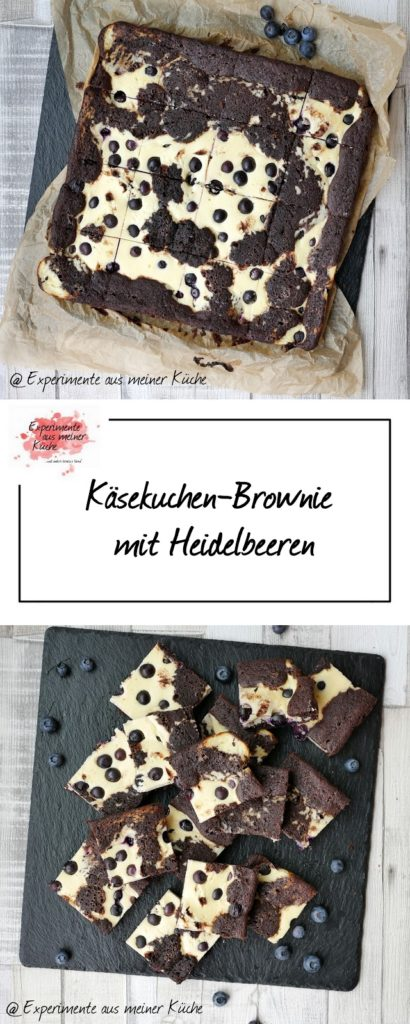 Käsekuchen-Brownie mit Heidelbeeren | Kuchen | Backen | Rezept | Weight Watchers