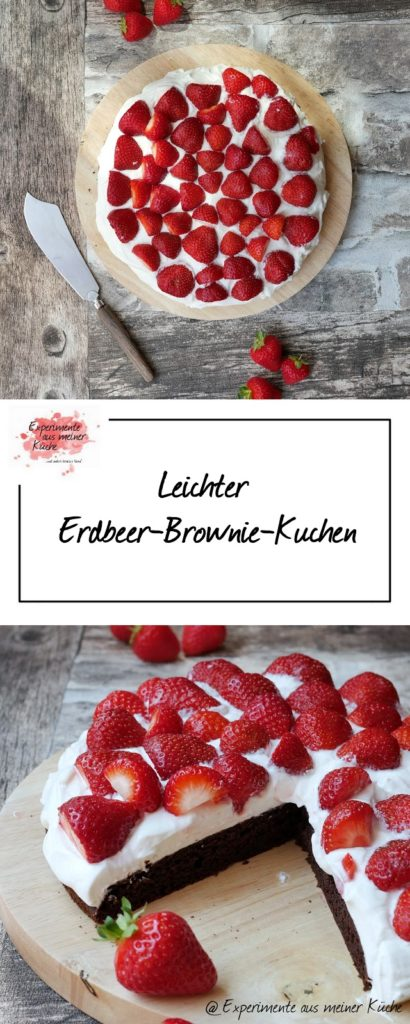 Leichte Erdbeer-Brownies | Rezept | Kuchen | Backen | Weight Watchers