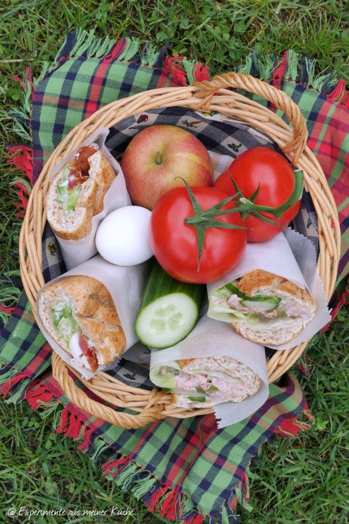 Thunfisch Baguette | Rezept | Essen | Picknick | Fingerfood