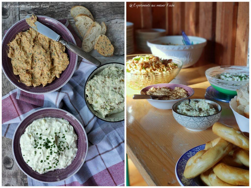 Partyrezepte | Dips | Frischkäse-Lauch-Dip | Tomatenbutter | Essen