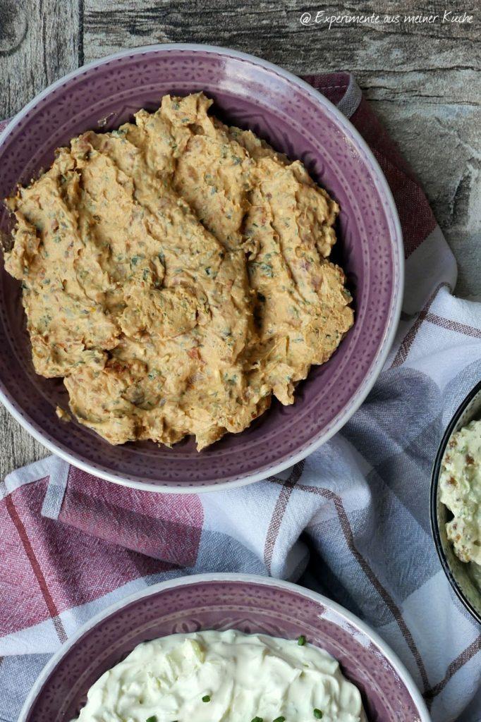 Partyrezepte | Dips | Frischkäse-Lauch-Dip | Tomaten-Kräuter-Butter | Essen
