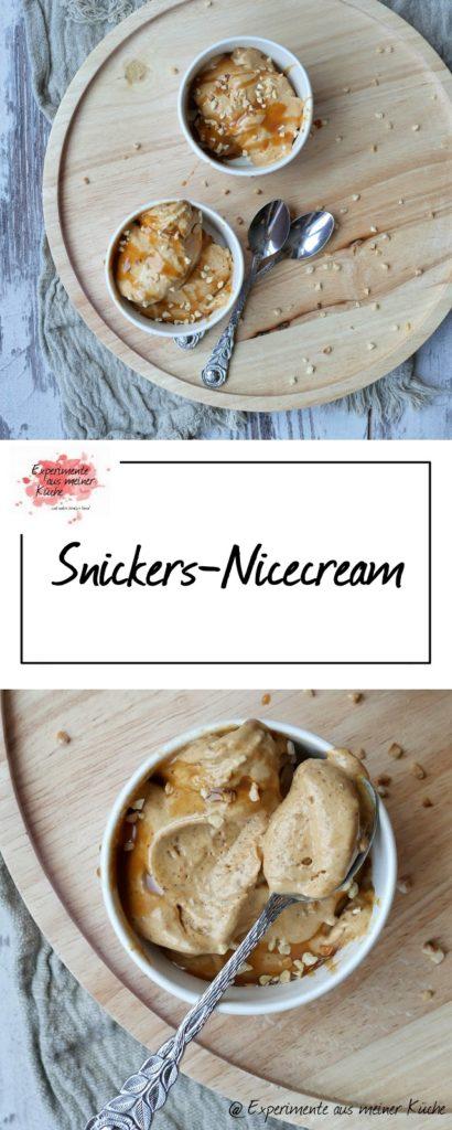 Snickers-Nicecream | Eis | Dessert | Rezept | Weight Watchers