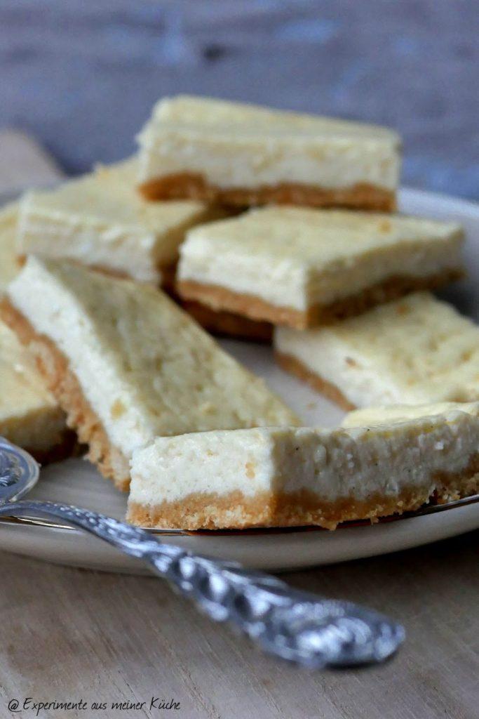 Cheesecakewürfel | Backen | Rezept | Kuchen | Blechkuchen | Weight Watchers