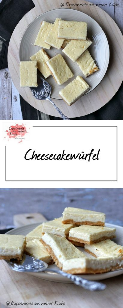 Cheesecakewürfel | Backen | Rezept | Kuchen | Blechkuchen | Weight Watchers